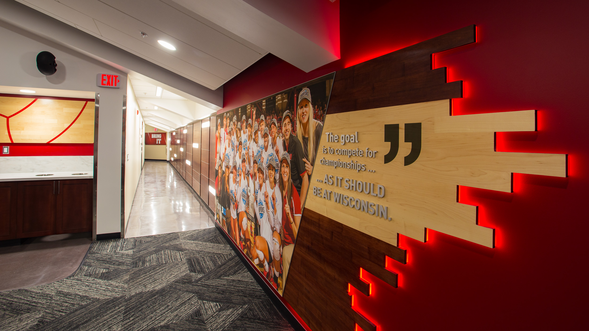 Locker Room Graphics Facility Branding Uw Volleyball Thysse