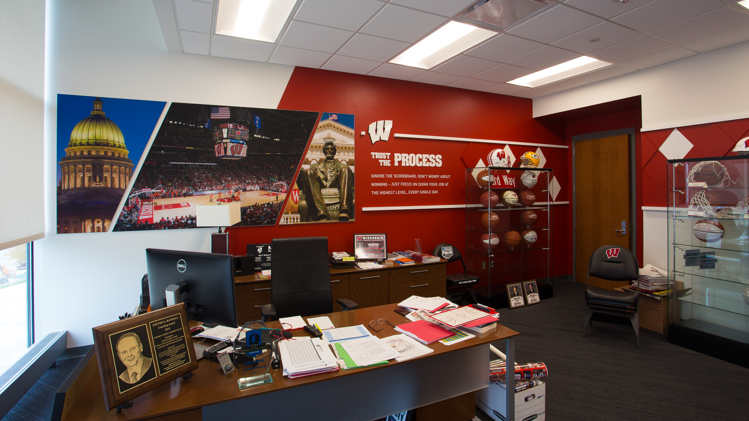 Custom Brand Design & Wall Murals UW Offices