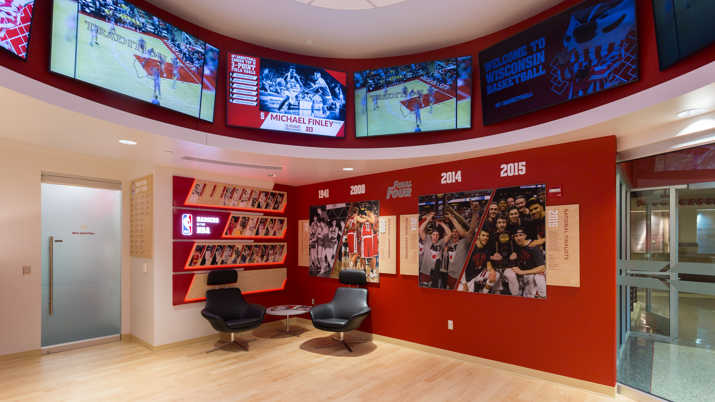 Sports Facility Design & Signage UW Offices